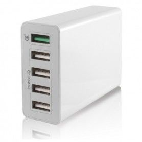 USB  Wall Charger 5 USB 10a White