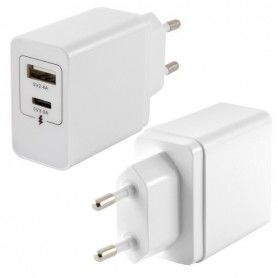 Wall Charger 2 USB White