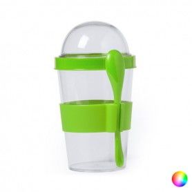 Glass with Lid and Spoon (420 ml) 145572