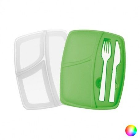 Compartment Lunchbox with Cutlery (800 ml) 144293