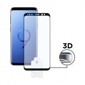Film Protecteur en Verre Trempé pour Téléphone Portable Galaxy S9 Plus 3D Noir