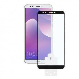 Protector de Pantalla Cristal Templado para Móvil Huawei Y7 2018 2.5D Negro