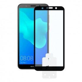 Protector de Pantalla Cristal Templado para Móvil Huawei Y5 2018 2.5D Negro