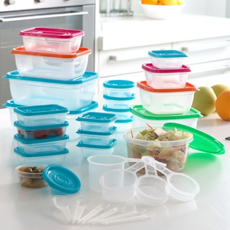 Lunch Boxes with Accessories (31 pieces)