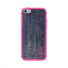 Mobile cover Iphone 5/5s Pantone Universe Denim TPU Pink Blue