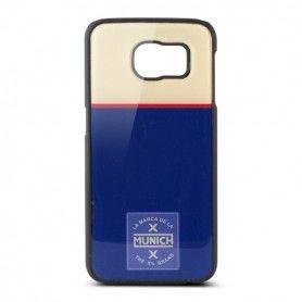 Mobile cover Samsung Galaxy S6 Munich Retro Line Polycarbonate Blue White