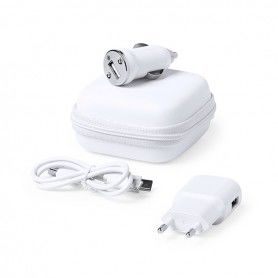 Ensemble de Chargeur USB 1000 mAh Blanc 146091