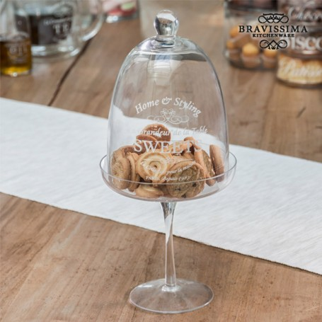 Cloche en Verre pour Gâteaux Bravissima Kitchen