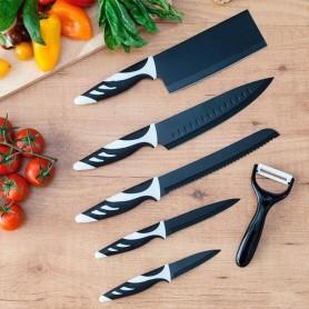 Couteaux Cecotec Top Chef Black C01024 (6 pièces)
